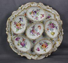 Dresden Porcelain Franziska Hirsch Antique Deviled Egg Plate   eBay
