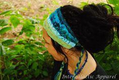 Headband Dread wrap Hippie Headband Gypsy by IntergalacticApparel