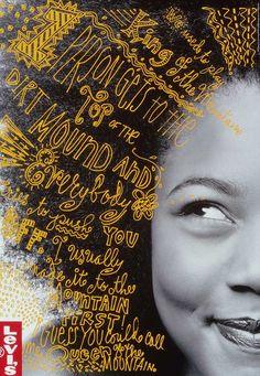 Poster Design for Levis designed by Jennifer Morla. Foto Doodle, Doodle On Photo, Typographie Inspiration, Plakat Design, Design Graphique, Graphic Design Typography, Graphic Design Inspiration, Graphic Design Trends, Editorial Design