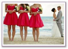 Brides maids and bride and groom photo