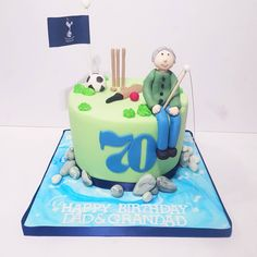 Sport Cakes, Happy Birthday, Birthday Cake, Desserts, Food, Happy Brithday, Tailgate Desserts, Deserts, Urari La Multi Ani
