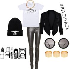 """All I wear is BLACK"" by heidi-mefford on Polyvore"