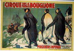 Les pingouins royaux - 1940-1950's   © Cirque d'Hiver Bouglione  Réservez vos places pour la Tournée : http://www.cirquedhiver.com/reservations/