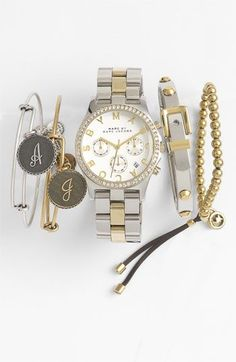 MARC BY MARC JACOBS 'Henry' Chronograph & Crystal Topring Watch | Nordstrom