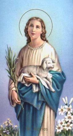 Saint Agnes is my favourite saint, I have been devoted to her ever since I heard her story. She gave her life rather than compromise her faith and her devotion to chastity.