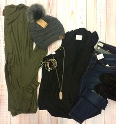 There's nothing wrong with being comfortable! Especially when you can still be cute!😍 #xoxoAL4You #tank #cardigan #beanie #layers #apricotlane #shoplocal Fetch My Cardigan (Olive) $29 A Fall Tank $34 Use the link below or comment to order! http://form.jotform.us/form/52044697810154