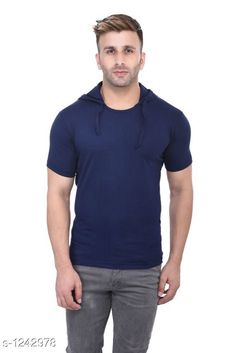 Sweatshirts Trendy Cotton Hooded T-Shirt  *Fabric* Cotton  *Sleeves* Sleeves Are Included  *Size* S, M, L, XL (Refer The Size Chart )  *Length* (Refer The Size Chart )  *Type* Stitched  *Description* It Has 1 Piece Of Men's Hooded T-Shirt  *Pattern * Solid  *Sizes Available* S, M, L, XL *   Catalog Rating: ★4.1 (1047)  Catalog Name: Men's Stylish Cotton Solid Hooded T-Shirts Vol 3 CatalogID_157048 C70-SC1207 Code: 442-1242978-