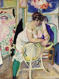 Jan Sluijters - ATELIERHOEK MET MODEL; Creation Date:Circa 1912
