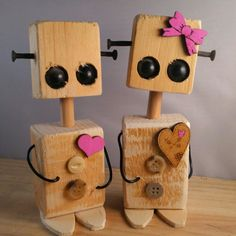 … 💕 # kitap # wooddesign # creative - My CMS Woodworking For Kids, Woodworking Toys, Woodworking Projects, Woodworking Machinery, Recycled Robot, Small Wood Projects, Into The Woods, Wooden Animals, Kids Wood