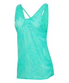 This PUMA Pool Green Gym Loose Layering Tank by PUMA is perfect! #zulilyfinds
