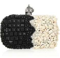 Alexander McQueen punk shell embellished cluctch