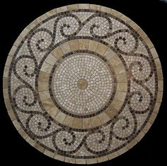 This amazing mosaic tile top is a true work of art.