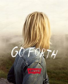 I LOVE the type from this Levi's campaign, my favorite ads out right now.
