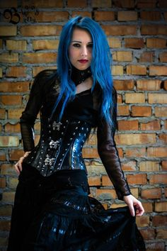 You can buy corset and  necklace here https://www.etsy.com/listing/208179854/hard-leather-gothic-corset-reduction?ref=related-1 model: Blood Betty https://www.facebook.com/BloodBetty?fref=ts fot. https://www.facebook.com/daria.zcichegolasu?fref=ts