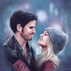 Captain swan fan art once upon a time gancho e emma, series Captain Swan, Captain Hook, Once Upon A Time, Emma Swan, Black Eyed Peas, Fan Art Percy Jackson, Marshmello, Frank Zhang, Hook And Emma