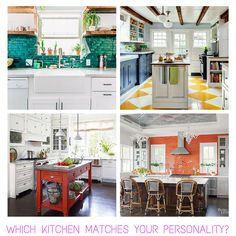 Blog post - matching kitchens & personalities based on color psychology