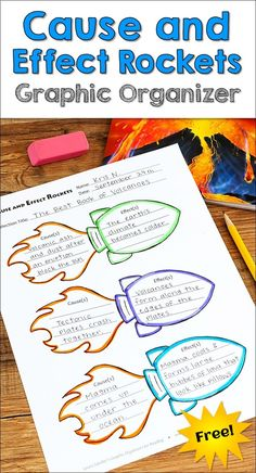 Awesome Cause and Effects Rocket graphic organizer freebie from Laura Candler's Graphic Organizers for Reading: Teaching Tools Aligned with the Common Core! Reading Strategies, Reading Activities, Reading Skills, Teaching Reading, Reading Comprehension, Comprehension Strategies, Learning, Student Teaching, Teaching Tools