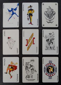 Vintage 1950's Joker Playing Cards
