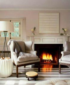 gray and white living room.love this cozy feel! Decor, House Design, Interior, Home, Living Room White, Living Room Design Inspiration, Cottage Style Homes, Interior Design, Comfy Cozy Home