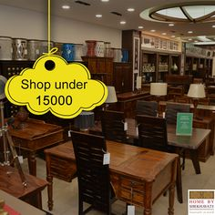 !!! SHOP UNDER 15000 !!!  WOW! A collection of exclusively beautiful furniture range turns POCKET FRIENDLY. Grab the fantabulous collection before the STOCK ENDS.  To add them to your space visit : http://bit.ly/HBS_ShekhawatiCollection