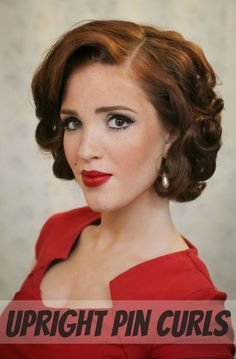 The Freckled Fox:  Upright Pin Curls