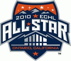ECHL All-Star Game Primary Logo on Chris Creamer's Sports Logos Page - SportsLogos. A virtual museum of sports logos, uniforms and historical items. Sports Team Logos, Nhl Logos, Athletics Logo, Word Mark Logo, Entertainment Logo, Sports Graphic Design, Event Logo, Esports Logo, Usa Sports