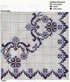 Χειροτεχνήματα: Mπορντούρες και γωνίες που θυμίζουν δαντέλα / Cross stitch lace borders and corners
