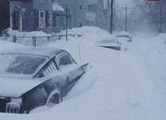 65' Mustang in Blizzard