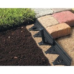 Paver Edging - front yard landscaping ideas with rocks Paver Edging, Garden Edging, Garden Paths, Lawn And Garden, Garden Bed, Landscaping With Rocks, Outdoor Landscaping, Backyard Patio, Backyard Landscaping