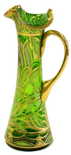 Enamelled Art Glass Pitcher