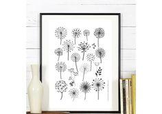 Affiche Fleurs de Pissenlit - A télécharger : Affiches, illustrations, posters par affiche-rgb4you