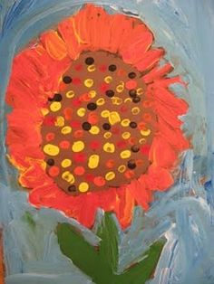 Sunflowers and kids art are the best duo ever.