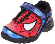 Stride Rite Spider-Man Lighted Sneaker (Toddler) Stride Rite. $52.00. Rubber sole. Added velcro hook & loop for a secure fit. Leather and man-made upper for a durable shoe. Your little one will love these fun Spiderman light up sneakers. Printed Spiderman themed upper with flashing lights to complement the shoe. leather. Boys Stride Rite, Marvel Spiderman light up Sneakers