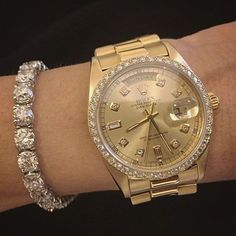 Rolex and diamond bracelet: @punintendednews