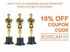 Get 10% Off When you Buy 3 or More Oscar Trophies by Kiserena on Amazon.com! Use Promo Code: 3OSCAR10 http://www.amazon.com/dp/B00VUF82VS?m=A1M3OT3SM82YZN