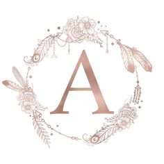 iphone wallpaper rose gold Letter A Rose Gold Pink Initial Monogram Mini Art Print by Nature Magick - Without Stand - x Monogram T Shirts, Monogram Stickers, Monogram Initials, Monogram Letters, Monogram Canvas, Floral Letters, Monogram Wallpaper, Graphic Wallpaper, Pet Health