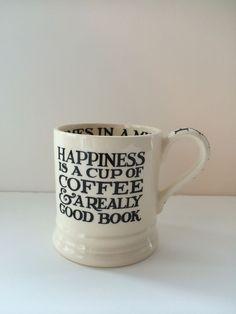 Emma Bridgewater BLACK TOAST & MARMALADE Happiness Coffee & Cake 1/2 Pint Mug #EmmaBridgewater