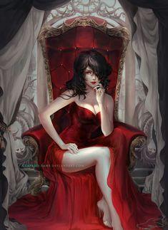 67 Super ideas for vampire love art drawings Dark Fantasy Art, Fantasy Artwork, Fantasy Art Women, Fantasy Girl, Art Vampire, Vampire Girls, Character Inspiration, Character Art, Manga Sexy