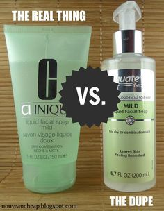 does the Equate version of Clinique Liquid Facial Soap Mild compare to the real thing? Come find out!How does the Equate version of Clinique Liquid Facial Soap Mild compare to the real thing? Come find out! All Things Beauty, Beauty Make Up, Beauty Care, Diy Beauty, Beauty Hacks, Skincare Dupes, Beauty Dupes, Drugstore Beauty, Makeup Tricks