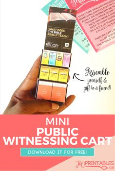 Today we've created a free printable file that will allow you to create a mini public witnessing cart! This cart has a little compartment in the back to stick candies… Jw Pioneer, Pioneer Gifts, Pioneer School Gifts Jw, Caleb Et Sophia, Jw Printables, Family Worship Night, Public Witnessing, Jw Convention, Jw Humor