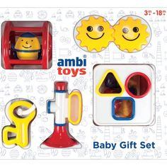 Ambi Toys Inc. First Toys 31070 Baby Gift Set, Multicolor