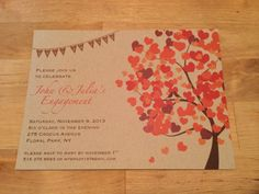 Fall In Love Engagement Party Invitation by MoonfaceCreative