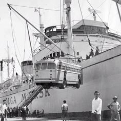 Olga Mærsk in Bangkok in the 50s. by Maersk Line, via Flickr