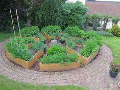 Billedresultat for højbed i haven Circular Garden Design, Herb Garden Design, Veg Garden, Vegetable Garden Design, Lawn And Garden, Garden Beds, Most Beautiful Gardens, Amazing Gardens, Garden Plant Markers