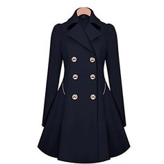 love this so much!! Women's Fashion Slim Double Breasted Trench Coat(Pocket Just for Decoration) – CAD $ 40.72