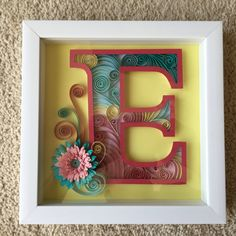 Personalized Monogram Quilled Paper Art by McGrathStudios on Etsy https://www.etsy.com/listing/232699051/personalized-monogram-quilled-paper-art