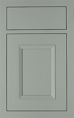 Pulsar Recessed door style by #WoodMode, shown in Designer Opaque Agate finish on MDF.