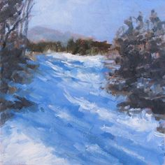 Fresh Snow, painting by artist Pam Holnback