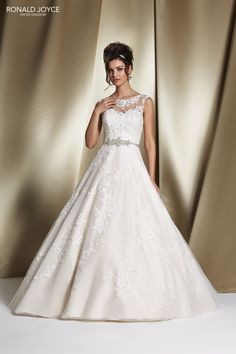68060 'ROBYN' Ronald Joyce #weddingdress #tulle #satin