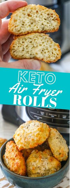 The Best Air Fryer Keto Rolls Recipe - Sweet Cs Designs Entree Recipes, Low Carb Recipes, Bread Recipes, Flour Recipes, Easy Recipes, Dinner Recipes, Baking With Almond Flour, Keto Side Dishes, Main Dishes